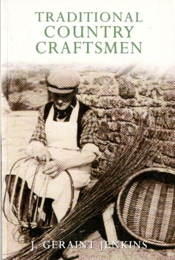 book cover showing man making basket